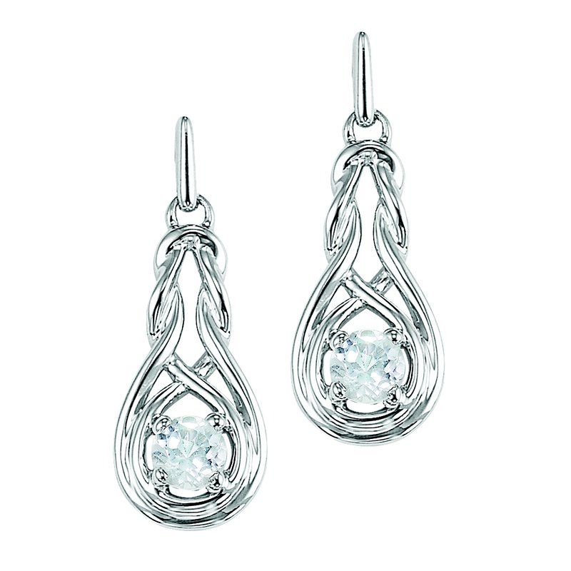 Mixables Silver Pearl Earrings (Available In all BirthStones)