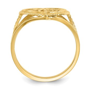 14k #1 Mom in Heart Ring