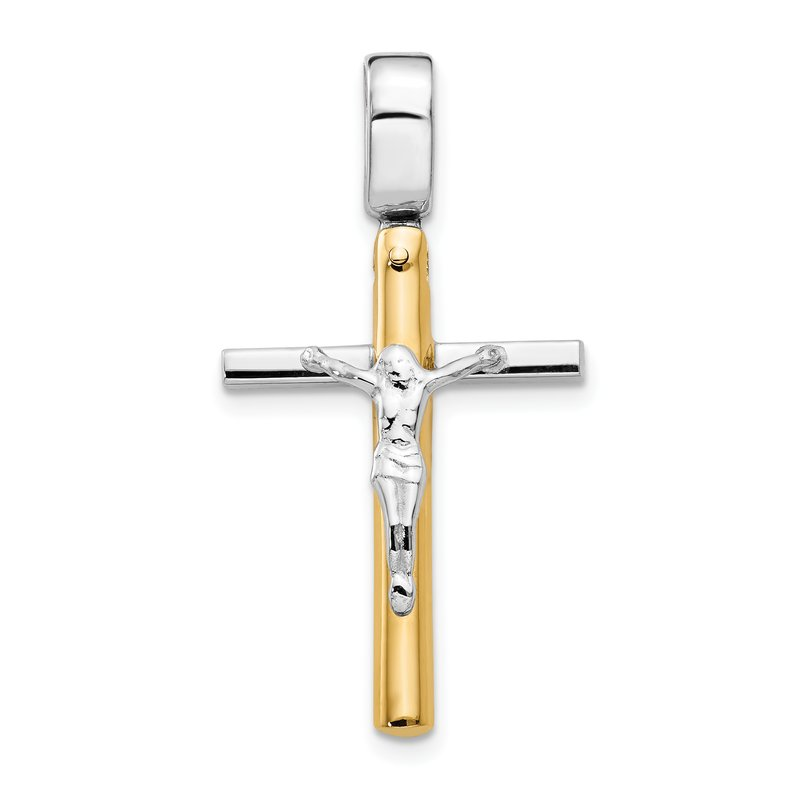 Leslie's Leslie's 14K Two-tone Polished Crucifix Pendant