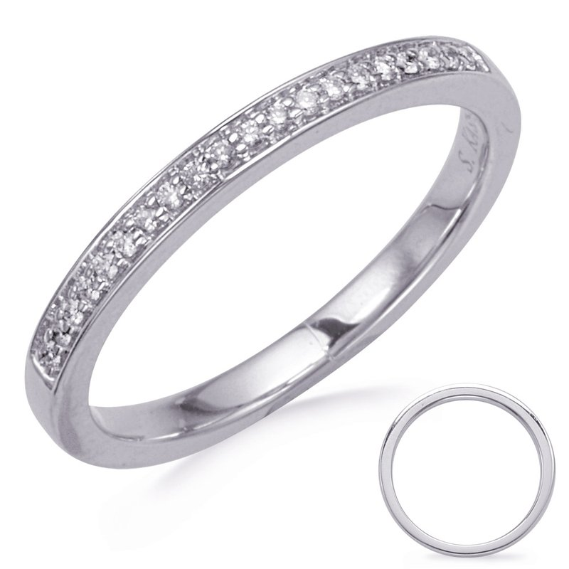 MAZZARESE Bridal White Gold Diamond Band