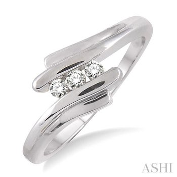 three stone diamond wedding band