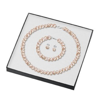 Silver Pearl Gift Set Pink