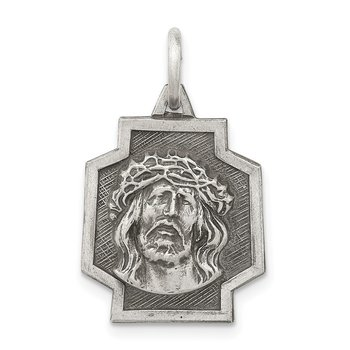 Sterling Silver Antiqued Ecce Homo Charm