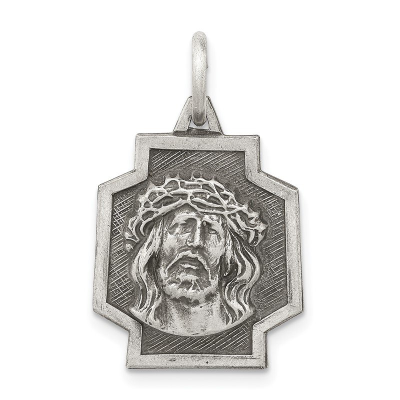 Quality Gold Sterling Silver Antiqued Ecce Homo Charm