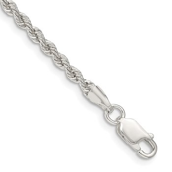 Sterling Silver 2.5mm Solid Rope Chain