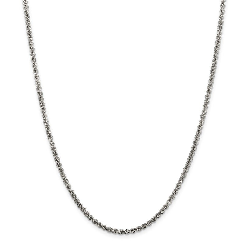 Quality Gold Sterling Silver 2.5mm Solid Rope Chain