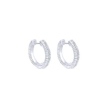 925 Silver Huggies Earrings
