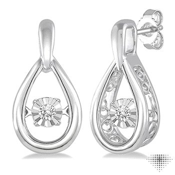 SILVER EMOTION DIAMOND EARRINGS