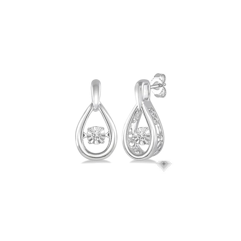 Emotion Diamonds Silver Emotion Diamond Earrings