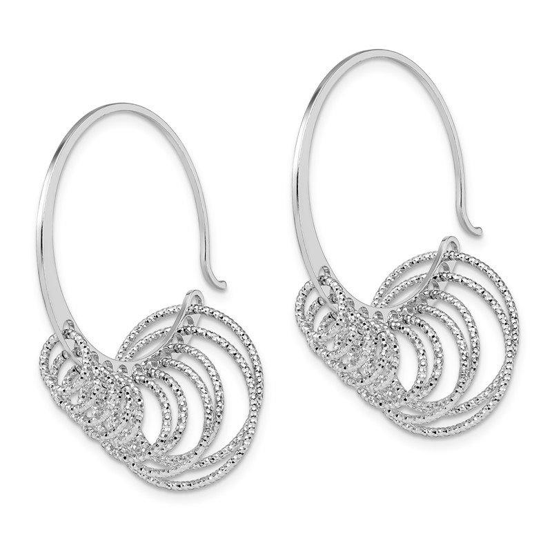 Leslie's Leslie's Sterling Silver Polished and Laser-cut Hoop Earrings