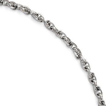 Leslie's 14K White Gold Polished Bracelet