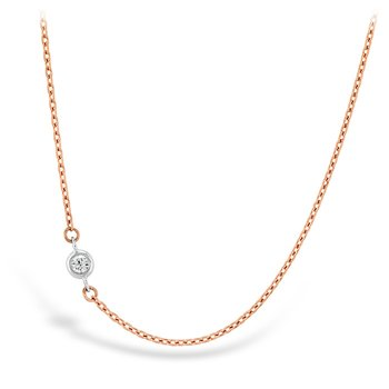 0.02 ctw. HOF Signature Off-Set Single Bezel Necklace