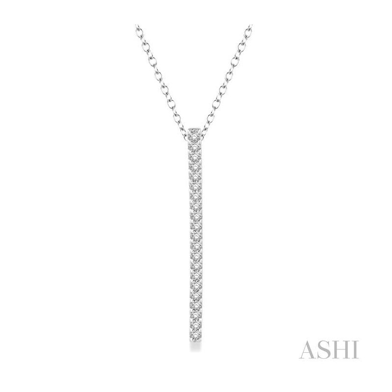 Barclay's Signature Collection VERTICAL BAR LAYERED DIAMOND PENDANT