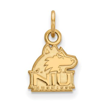 Gold-Plated Sterling Silver Northern Illinois University NCAA Pendant