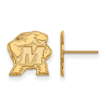 Gold-Plated Sterling Silver University of Maryland NCAA Earrings