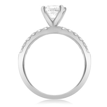Four Prong White Gold Engagement Setting