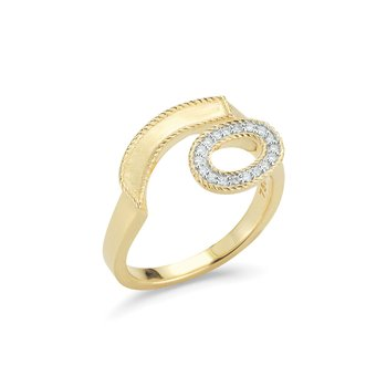 Yellow Gold & Diamond Solar Ring