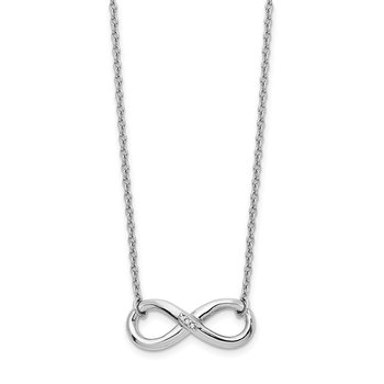 SS White Ice Infinity Diamond Necklace