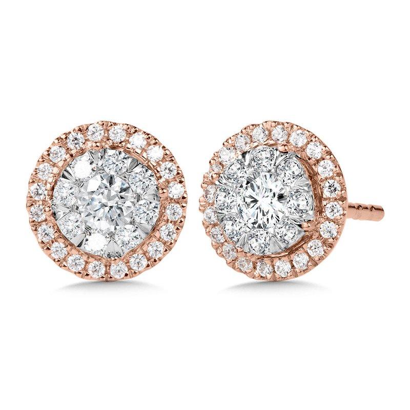 SDC Creations Duel-Tone Cluster Diamond Earrings