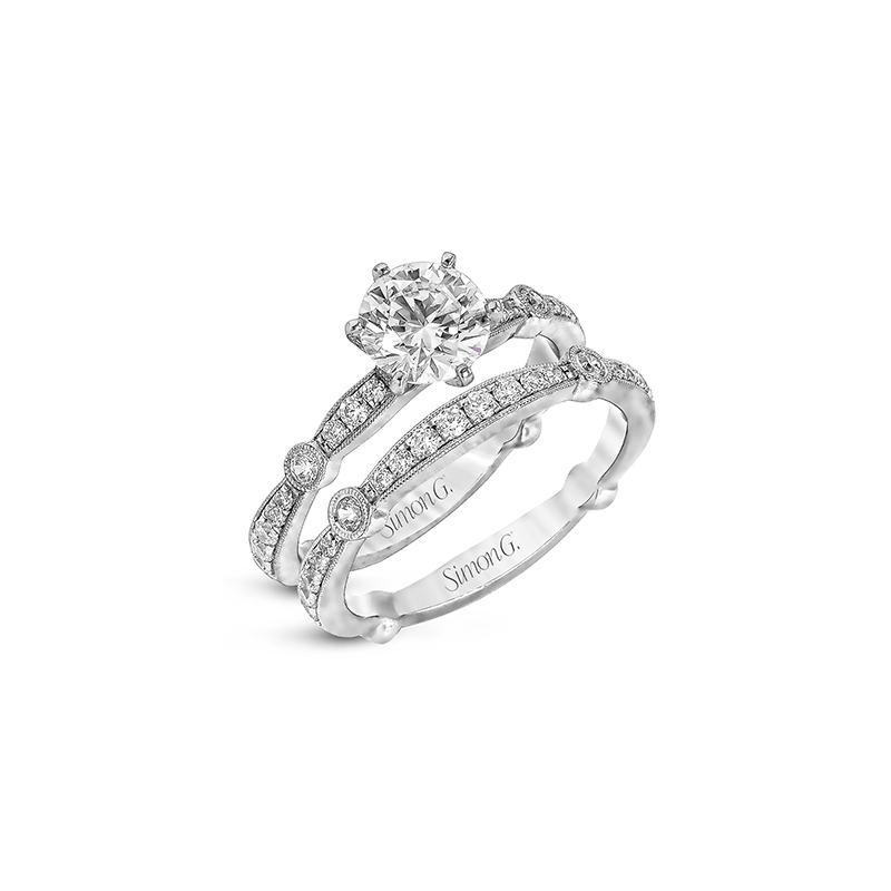 Simon G MR1546 WEDDING SET