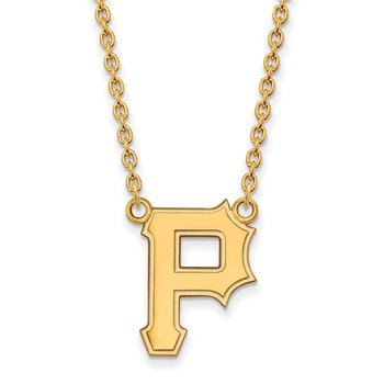 Gold Pittsburgh Pirates MLB Necklace