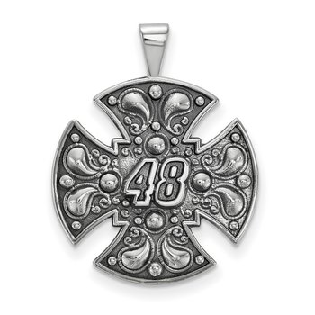 Sterling Silver 48 Jimmie Johnson NASCAR Pendant