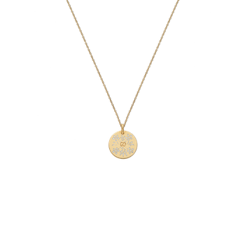Gucci 18kt Icon Blooms necklace 50cm with white enamel. Available at our Halifax store.