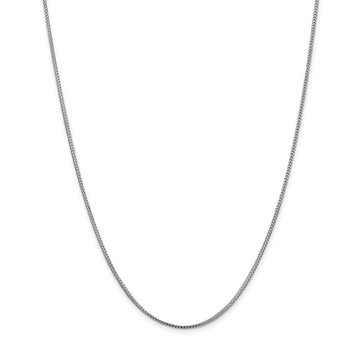 Leslie's 14K White Gold 1.1 mm Franco Chain