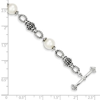 Sterling Silver FW Cultured Pearl Bracelet