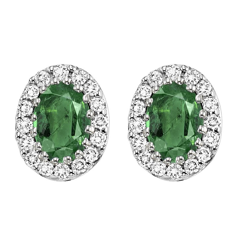 Gemsone 14K Emerald & Diamond Earrings