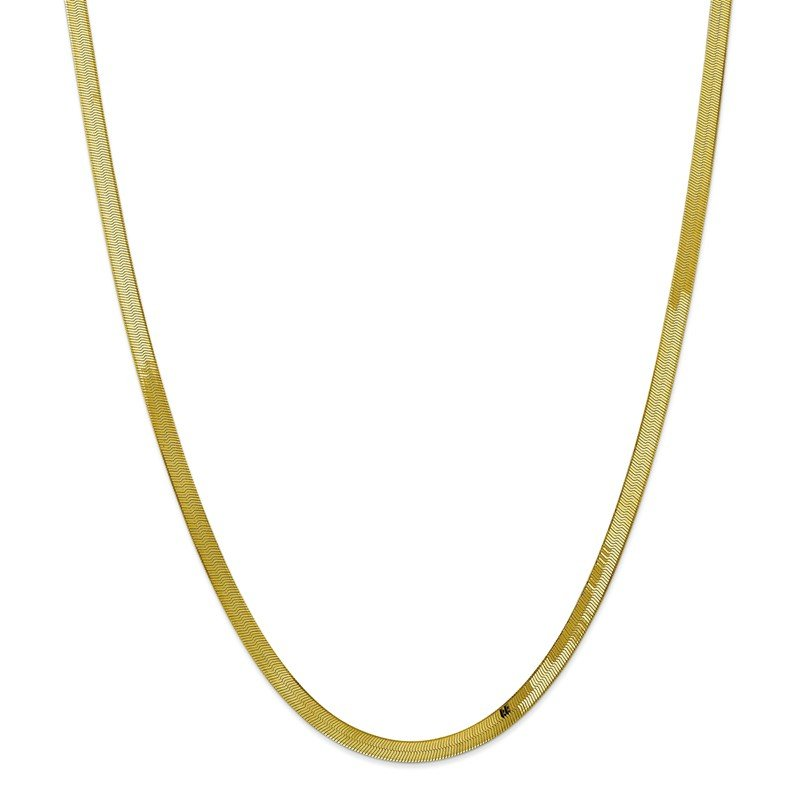 Quality Gold 10k 4mm Silky Herringbone Chain