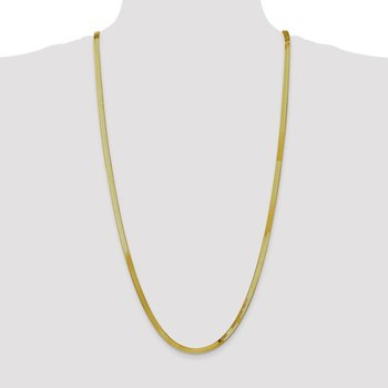 10k 4mm Silky Herringbone Chain