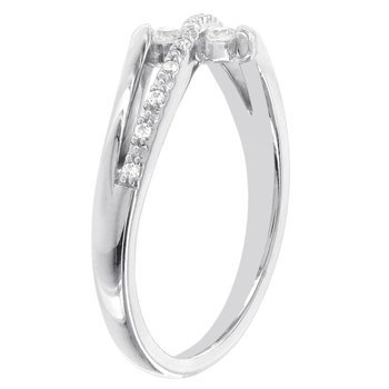 Sterling Silver 1/8ct Diamond Promise Ring