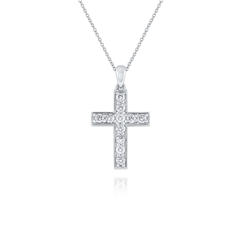 KC Designs 14K Gold and Diamond Cross Necklace