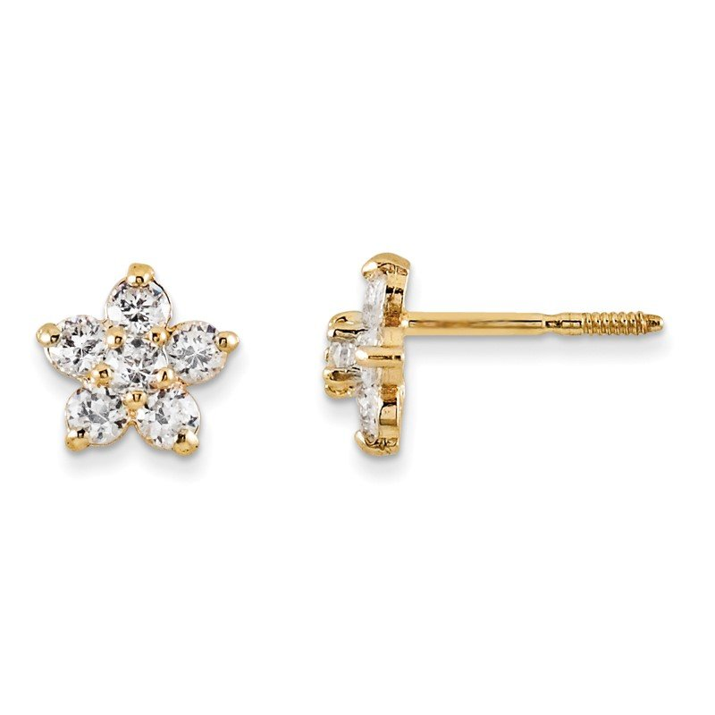 J.F. Kruse Signature Collection 14k Madi K Marquise CZ Star Earrings