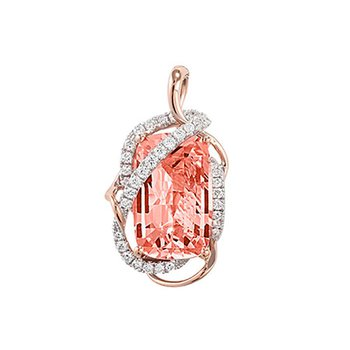 Champagne Sapphire Pendant-CP3901RCS