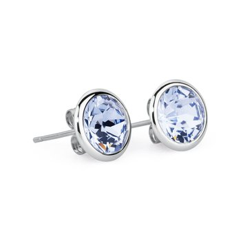 316L stainless steel and light sapphire Swarovski® Elements.