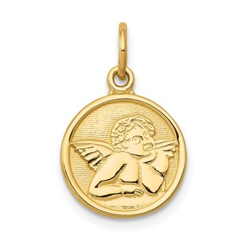 14k Polished Angel Charm