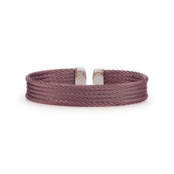Burgundy Cable Mini Cuff