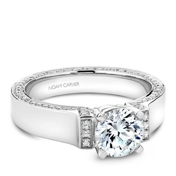 Noam Carver Modern Engagement Ring B042-03A