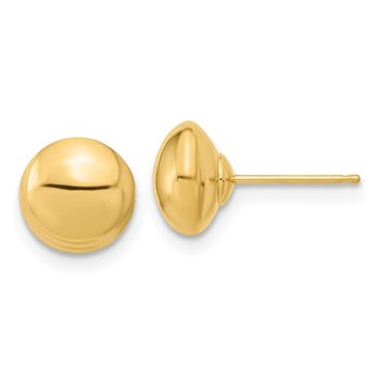 14k Polished Button Post Earrings