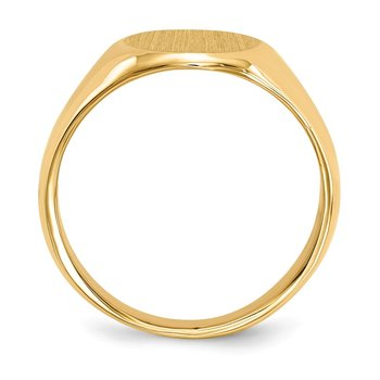 14k 15.0x11.0mm Closed Back Men's Signet Ring