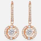 Swarovski Swarovski Sparkling Dance Pierced Earrings, White, Rose-gold tone plated