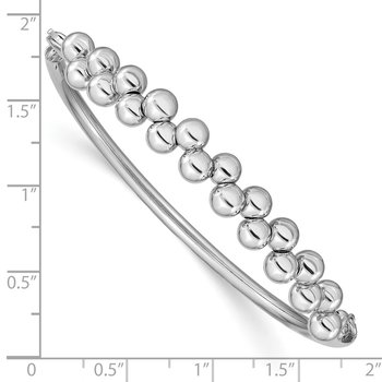 Sterling Silver Rhodium-plated Offset Beads Bracelet