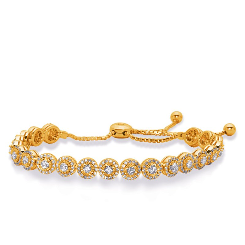 Briana Yellow Gold Bolo Diamond Bracelet