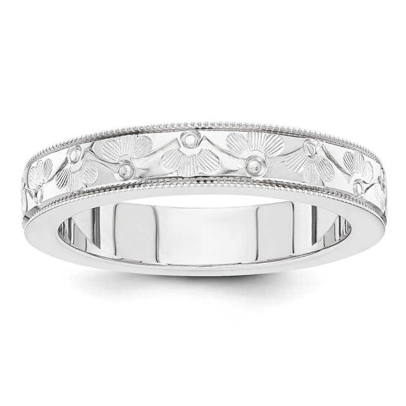 Quality Gold 14k white gold fancy wedding band
