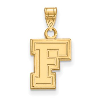 Gold-Plated Sterling Silver Fordham University NCAA Pendant
