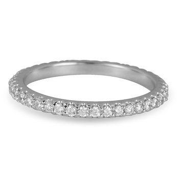 14K WG Diamond Eternity Band in Prong Setting 0.60Cts