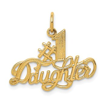 14k #1 Daughter Charm