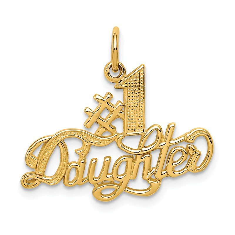Quality Gold 14k #1 Daughter Charm